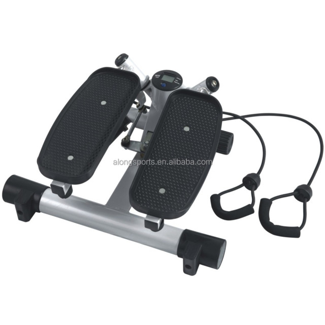 Hydraulic Twist Mini Stepper With Training Resistance Ropes Cords and Digital Workout Computer home fitness equipment S267A