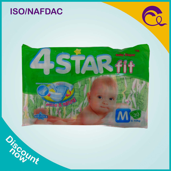 Best selling medical care 4star baby diaper with Fujian factory price in Africa