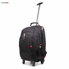 15 inch laptop trolley rolling backpack bag