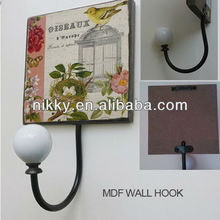 Bird and Birdcage design Decorative wall art hook