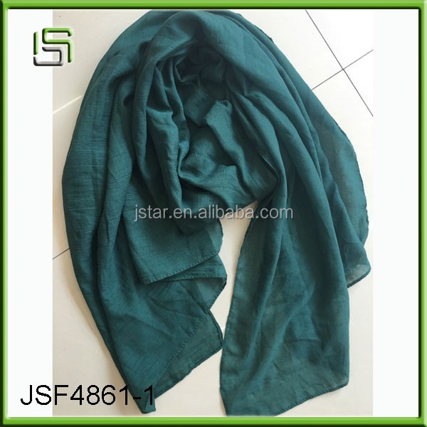 Women fashionable cotton linen scarf and solid color long scarf