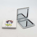 Economical square small plastic pocket mirror