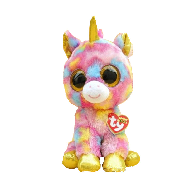 2015 Hot Beanie Boos Big Eyes Small Unicorn Plush Toy Doll Kawaii Stuffed Animals Collection Lovely Children's Gifts