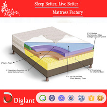 New Design 12-Inch Gel Memory Foam & Latex Mattress by Diglant, Queen