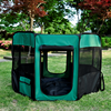 "Pawhut 46"" Green Black Deluxe Soft Sided Folding Pet Playpen Crate"