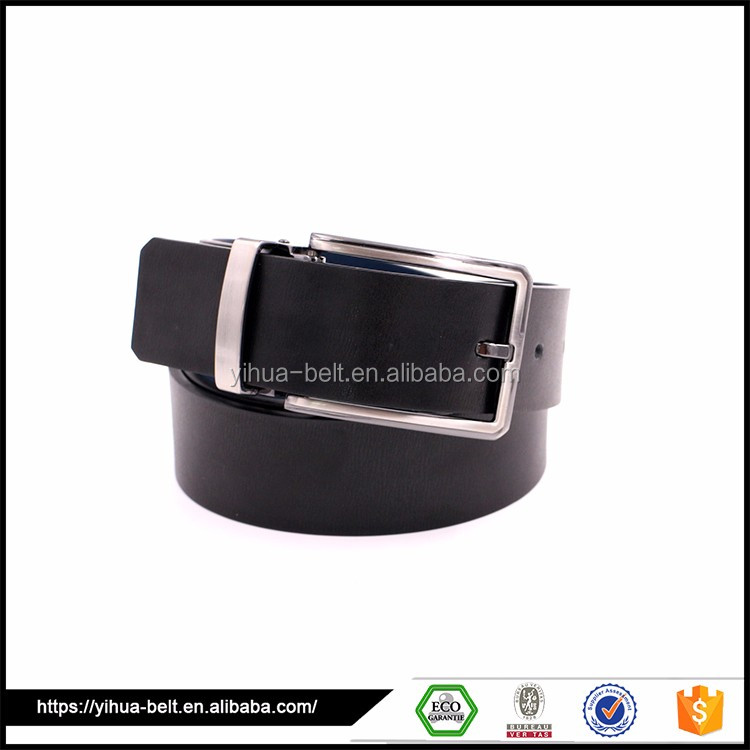 Famous Brand Pure Black Genuine mens casual belts