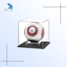 Transparent desktop football acrylic display case