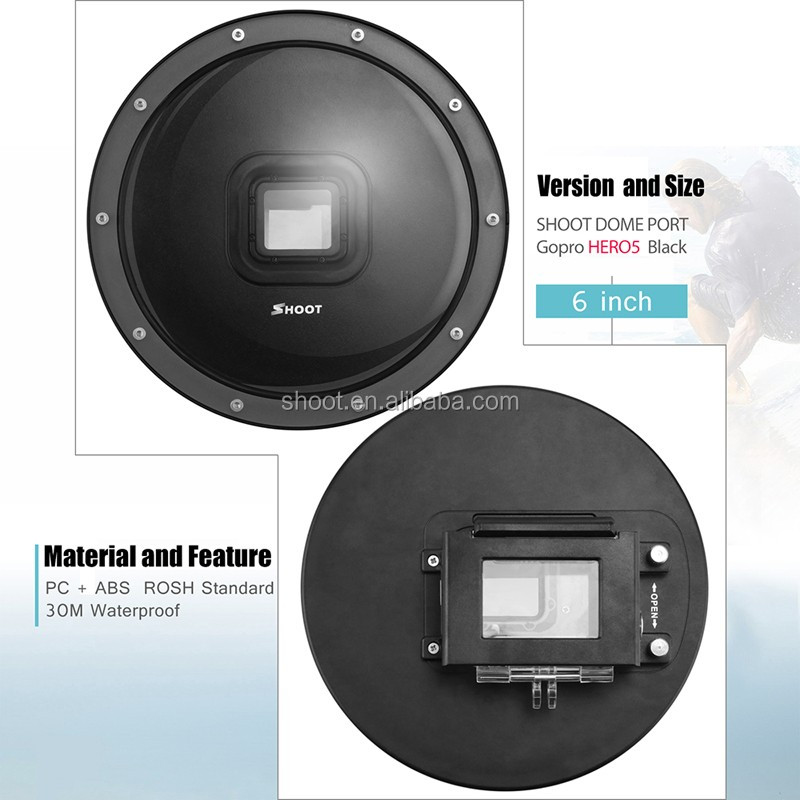 "2017 NEW Arrival for GoPro 5 Hero5 Black Dome Port 6"" Underwater Photography"