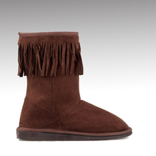 H&C-134 best seller non slip faux fur lining warm casual fancy snow boots ladies with tassels