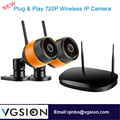 2 Channel 720P Wireless Surveillance DVR Kit Plug And Play 4mm Lens IP Security Camera