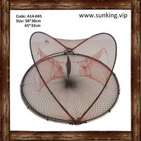 hot sale best quality foldable long excellent pe fish trap net cotton drop net