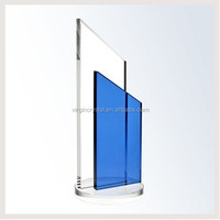 Simple Design Clear And Blue Sword Glass trophy Awards For Game Souvenirs Gift