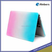 Wholesale Rainbow Pattern Rubberized Hard Shell Plastic Case for MacBook Air 11.6 13.3 Pro Retina 13 15 Cover Factory