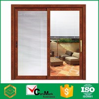Wood Grain Aluminum Glass Louvers Window For Door Factory