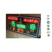 Multi-function Basketball Scoreboard part of basket ball hoop pole and base for sale