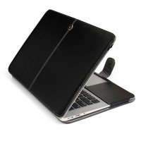 Premium Stand PU Leather Case Cover for Apple Macbook 12 Inches