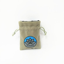 Custom Logo Jewellery Pouch Drawstring Velvet Bag