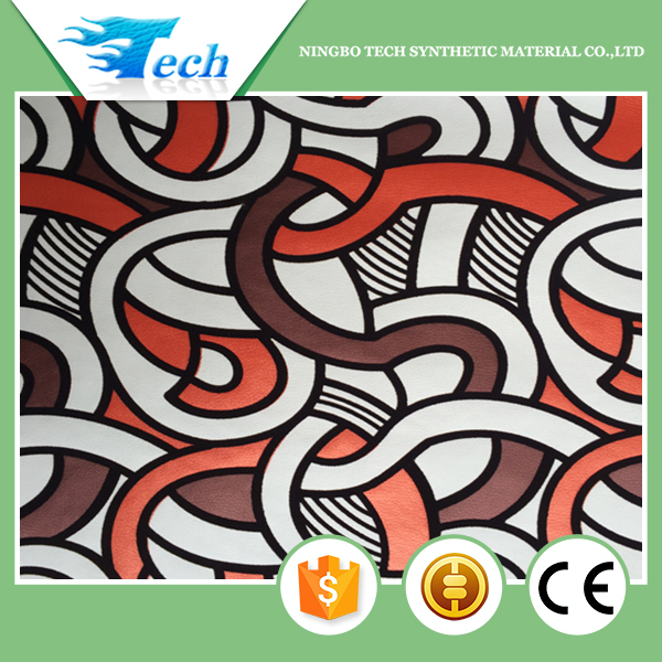 Alibaba Trade Assurance Newest design print leather fabric fashion for making furniture sofa