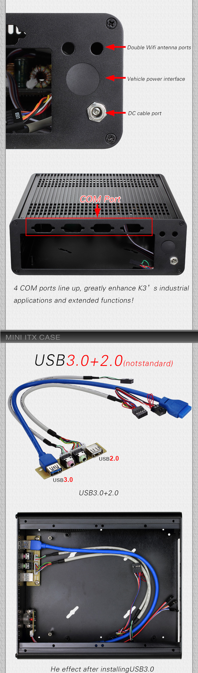 Realan new itx case E-K3 mini pc case