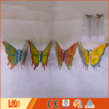 New design colorful plastic butterfly garden stakes wholesale