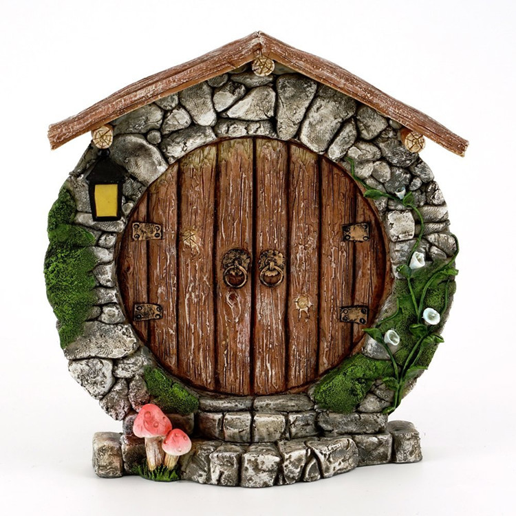 Custom Charming Resin Round Gnome Garden Miniature Fairy Door