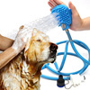 2018 Hot Selling Dog Pet Handheld Shower Bathing Sprayer With Grooming Brush Head