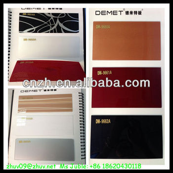 Decorative acrylic sheet for sliding door,coloured laminated plywood sheet