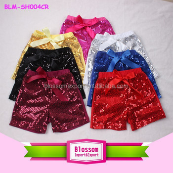 2015 TOP SALE ! Wholesale children's boutique clothing baby sequin shorts , cheap china wholesale clothing sequins petti shorts