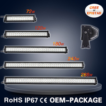 9-60V high lumens 12 volt led light bar off-road 72W 120W 180W 240W 288W 300W