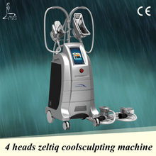 Professional salon use cryolipolysis machine 4 handles for different boy parts
