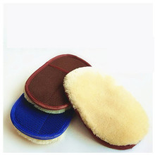 Car Care Cleaning <strong>Brushes</strong> Polishing Mitt <strong>Brush</strong> Super Clean Wool Car Wash Glove Car Wash Sponge Waxing Gloves