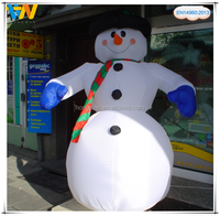 Lovely large outdoor inflatable Christmas decoration plush snowman