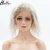 2018 New Style Full Lace Wig Wholesale Virgin Mixed Grey Half Black Half White Wig For White Human Hair