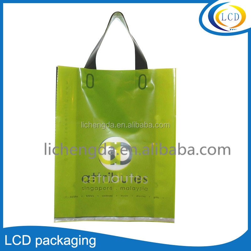 Custom plastic cosmetic gift set packaging bag with handle