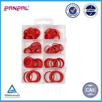 BSCI approved china factory assorted 110pcs red fiber washer