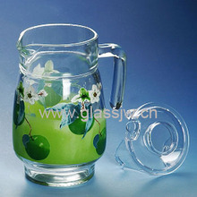 1.6L Glass Pitcher With Lid