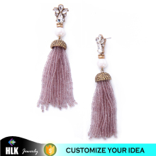 2017 Hot Fashion Beautiful Pink Tassel Vietnam Jewelry Acrylic pearl Earrings Wholesale