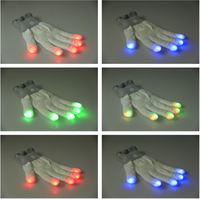 Party favor Glow in the dark gloves,Cotton nylon led gloves wholesale