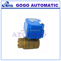 CWX-25S dn15-25 2 way motorized valve with position indicator and manual override function mini electric ball valve