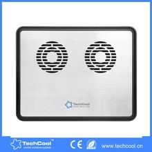 aluminum panel with 2 fans laptop cooling pad supper silent fan at best price
