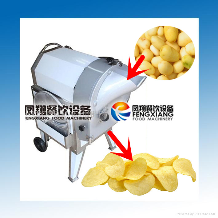 FC-312 Electric Automatic Potato Chips Cutting Machine, Carrot Radish Taro Cassava Cucumber Cutting Machine (MOB:86-18902366815)
