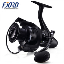 FJORD In stock raistar made in China dual drag long cast aluminium spool 12+1BB bait runner carp spinning fishing reel
