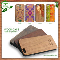 for iphone 6 case trendy Design Full Body sticker wooden back cover case,various colors printing design
