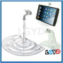 funny Flowing Water Faucet tablet pc holder for iPad