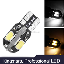 T10 8smd 5730 Canbus LED car Light Canbus NO OBC ERROR T10 W5W 194 SMD Led Bulb clearance light