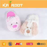 plush last design factory indoor cute animal fuzzy slippers