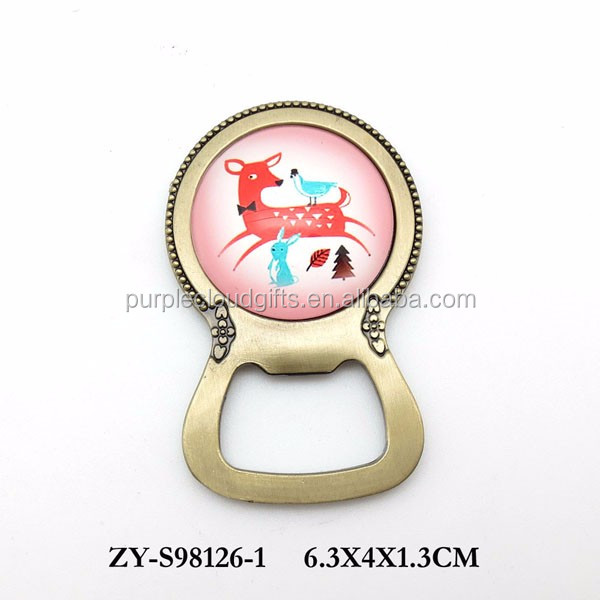 Animal design fancy bottle opener for gift