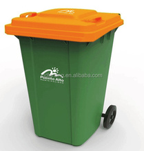 240 liter / 120 liter outdoor large public industrial recycle plastic waste bin with wheels