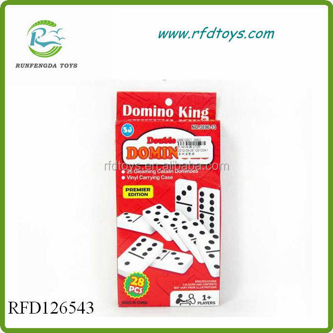 Kids educational toys plastic domino game set