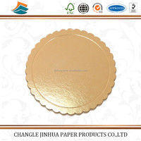China manufacturing sale gold silver paper cake base with cheap price/gold paper
